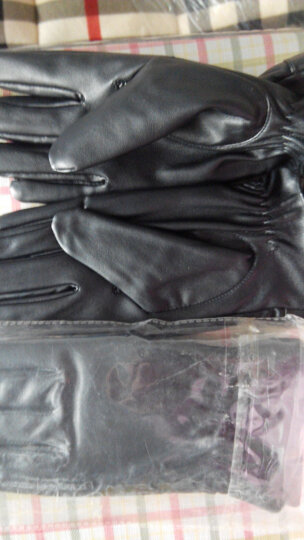 优唯美 秋冬季情侣加绒保暖触摸屏触屏仿皮手套女士 M码K8055 晒单图