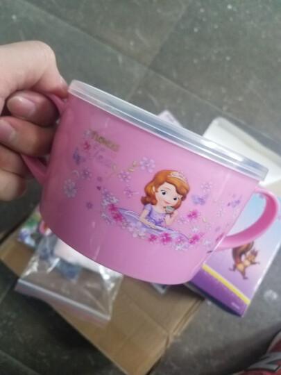 迪士尼(Disney) 迪士尼婴儿碗儿童餐具宝宝双耳碗汤勺叉子练习筷子套装小孩不锈钢辅食碗 苏菲HC2078碗+1611杯子+叉 勺+筷 晒单图