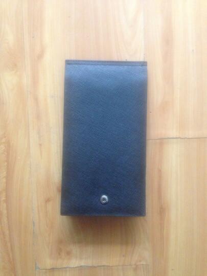 MUBREAD卡包男士长款牛皮银行卡包超薄多卡位钱包驾驶证套商务休闲名片夹卡夹卡套礼盒 经典黑 晒单图