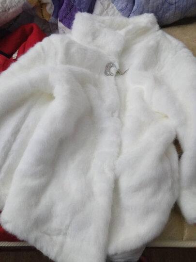 丹丽芙 皮草女中长款2018冬季皮草大衣女立领裘皮外套仿皮草 黑色中长款 均码(90-130斤) 晒单图