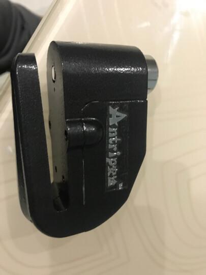 安途ANTRIP摩托车防盗报警碟刹锁自行车碟锁山地车锁电动锁防盗防水报警器送便携锁包和电池 不锈钢梅花锁芯7MM 银 晒单图
