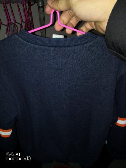 迪士尼男童外套 宝宝加绒衣服装 儿童2017冬款童装男 棉加厚卫衣上衣外套 墨绿色 100cm(吊牌100建议身高100左右) 晒单图