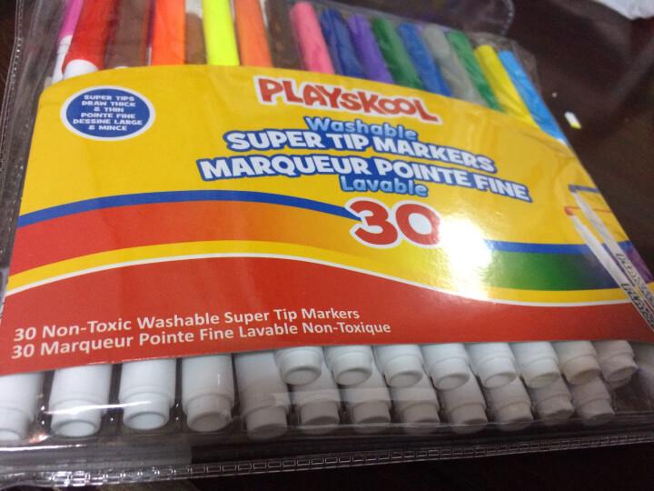 培乐多/playskool水彩笔30色中号彩笔马克笔可水洗可擦儿童绘画工具涂鸦笔无毒4岁+画画笔 晒单图