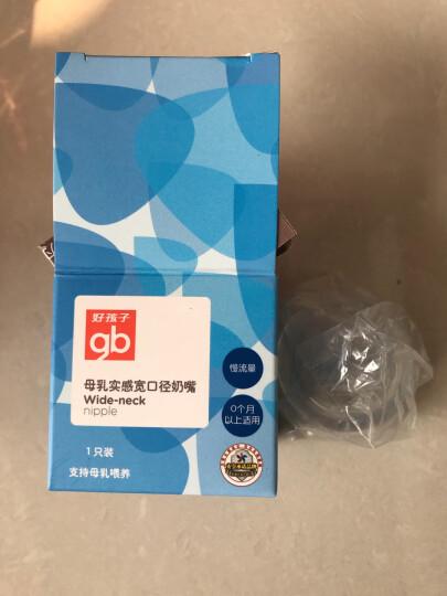 gb好孩子母乳实感宽口径握把吸管PPSU奶瓶300ml-粉蓝(小饿魔系列) 晒单图