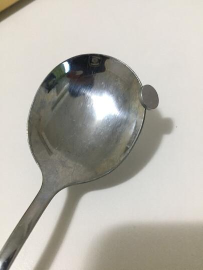 阳光飞歌 不锈钢餐具 西餐长柄勺子套装水滴形主餐饭勺汤勺咖啡勺大号 3只装  1413 晒单图