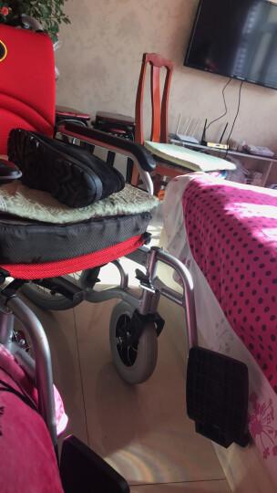 九圆 老年人双人电动轮椅车残疾人代步助行车轻便折叠自动刹车手动电动两用轮椅可升级锂电池 660坐式双人电动轮椅 默认红色 晒单图