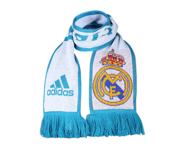 专柜正品adidas阿迪达斯赛季曼联皇马尤文拜仁AC米兰围巾BR7003 尤文BR7003 均码 晒单图