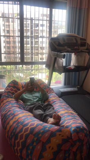 夏诺多吉 户外快速充气口袋沙发便携式空气床可折叠单人床垫懒人午休床垫 第三代升级方型民族风 晒单图