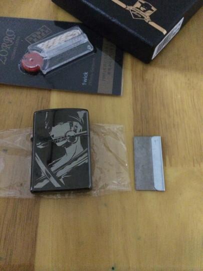 佐罗ZORRO煤油打火机 经典黑冰光版创意个性防风火机送男友Z806 咖啡(豪华版) 晒单图