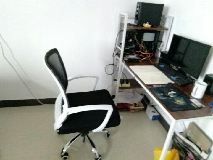 椅品汇 电脑椅办公椅老板椅可躺家用转椅升降会议椅弓形椅子W-05 白框黑网滑轮+钢脚 钢制脚 晒单图