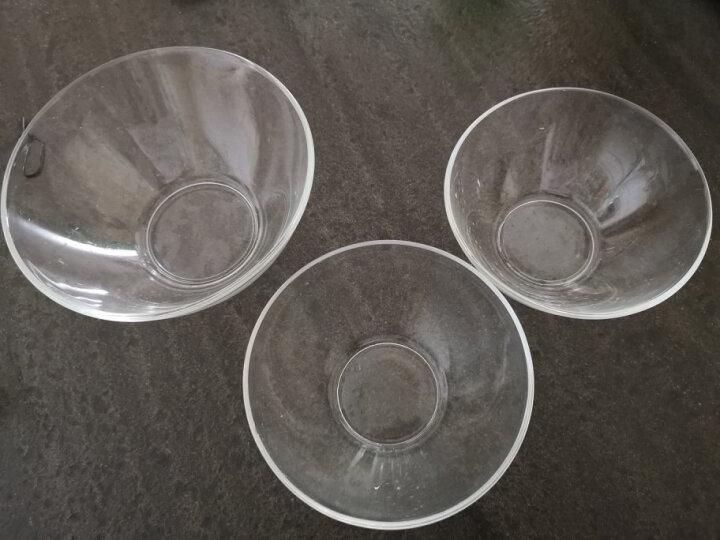 乐美雅 玻璃碗水果沙拉碗和面打蛋盆家用套装钢化透明大号微波炉汤碗 三件套(17cm+14cm*2个) 晒单图