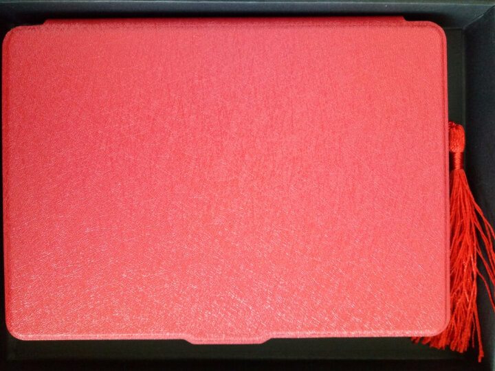 柯帅 kindle保护套 558/X咪咕亚马逊电子书阅读器电纸书 蚕丝纹热情红 晒单图