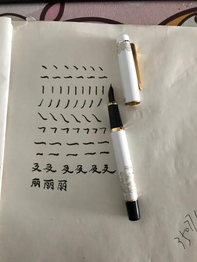 中宣堂(zhongxuantang) 钢笔学生万年笔练字书法钢笔墨水笔罗氏钢笔硬笔 弯尖 996 红 晒单图