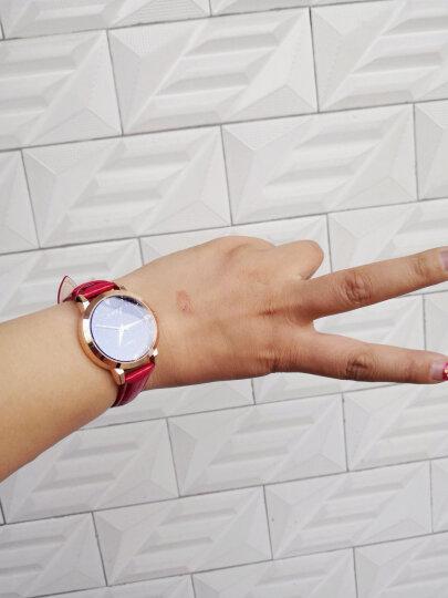耐瑞(NARY)手表女新款时尚星空系列女表欧版防水简约石英女士手表 女学生手表手表 女 玫金壳红色带 晒单图