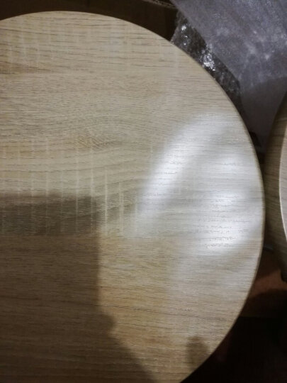 慧乐家 椅凳 京东配送金属折叠椅子 圆形木质办公椅 户外便携凳(2个装)3D木纹色 22195 晒单图