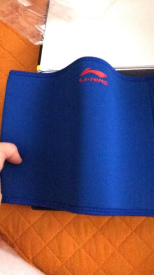 李宁(LI-NING) 运动护腰带男女健身防护腰保暖带 适用场景腰脊劳损腰椎间盘突出护具收腹带 蓝色942 晒单图