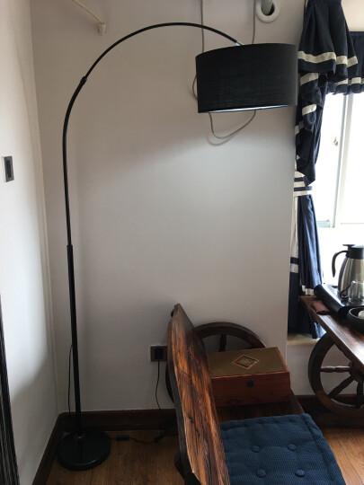 依特莱(yitelai)led落地灯客厅卧室灯简约现代书房灯床头立式钓鱼灯北欧落地灯led灯具 3001黑色 9W-LED白光 晒单图