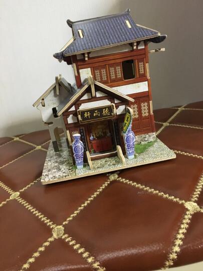 若态Robotime拼图DIY手工拼装木质小屋模型 3D立体拼图建筑儿童大人成年人益智玩具 中国茶楼F131(世界风情立体建筑拼图玩具) 晒单图