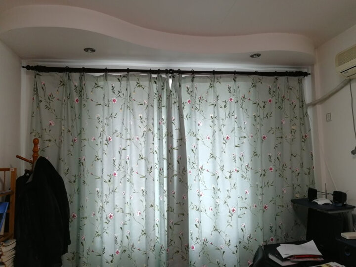 梵迪欧窗帘 花如烟田园清新简约现代窗帘窗纱纱帘成品套装 客厅卧室阳台飘窗定制窗帘布 花如烟布-蓝色 挂钩1米宽x2.7米高 高可改 要几米拍几件 晒单图