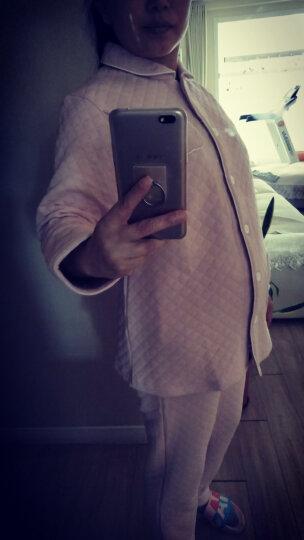 【2件8折】富朵 秋冬新款保暖空气层夹棉月子服 孕产妇睡衣家居服哺乳喂奶衣 粉菠萝856-3 L 晒单图