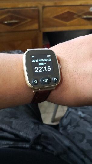 【关爱老人】老人智能电话手表学生手机成人防水多功能GPS定位器血压心率健康小米手环手表式 心率血压-土豪金 晒单图