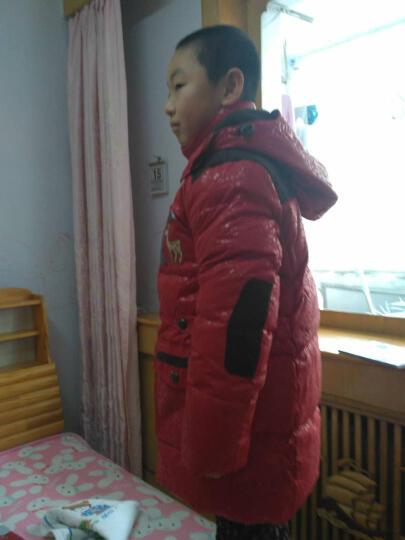 韦氏 儿童羽绒服男童秋冬羽绒服 橘红色-14B 170 晒单图