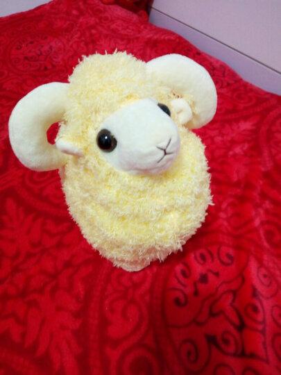 好运兔 可爱小绵羊公仔山羊毛绒玩具布偶娃娃抱枕可爱创意送女孩抱着睡觉 黄色 25厘米 晒单图