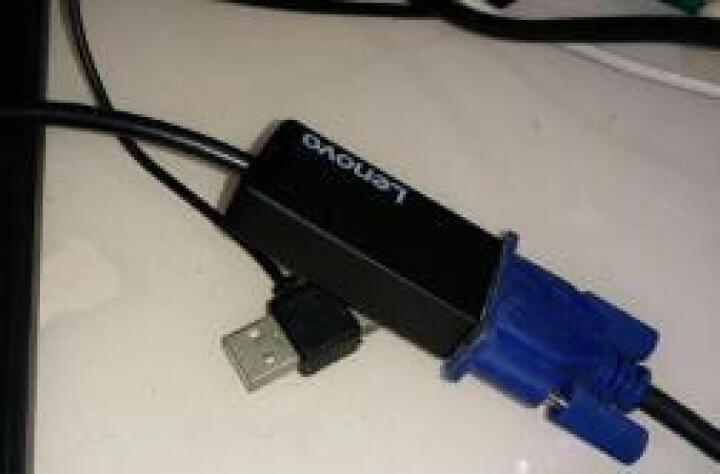 联想(Lenovo) HDMI转VGA转换器 平板电脑接投影仪适配器 USB type-c转VGA 晒单图