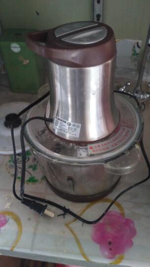 三的(SANDE) 绞肉机家用电动多功能绞馅机料理机搅拌机碎肉机打肉机绞菜机家用2.2L大容量 2305粉色(不锈钢双刀) 晒单图