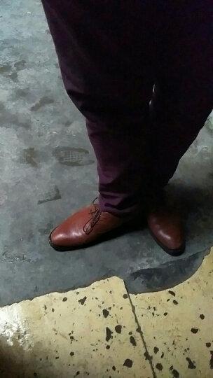 春秋新款男士皮鞋黑色正装皮鞋男真皮商务休闲鞋男工作鞋潮流男鞋 棕色 40(标准皮鞋码) 晒单图
