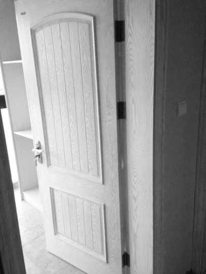 多灵门锁 室内欧式把手静音锁芯 现代简约实木房门卫生间卧室门锁具三件套装 亨利 右外开-带304不锈钢合页门吸 晒单图