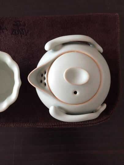 汝瓷茶壶汝窑西施壶功夫茶具泡普洱可养开片手工陶瓷器茶艺壶杯子 月白红哨子200ML 晒单图