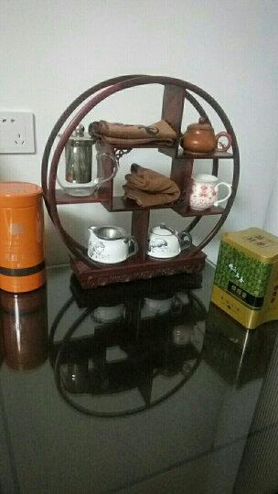 红酸枝茶架 紫砂壶架子 茶具收纳架 小博古架 茶杯茶壶茶宠展示架 大竖方 晒单图