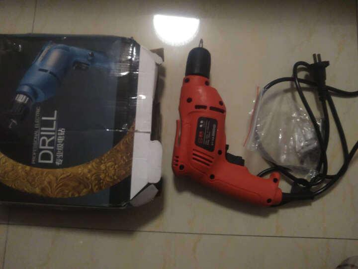 圣泰小手钻微型电钻手电钻正反转家用手枪钻机 电动螺丝刀220v 工具箱 普通版(红色)+钻头套 晒单图
