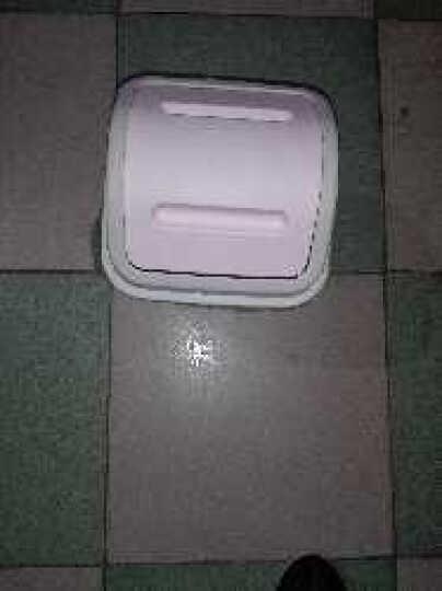 一口米 创意摇盖式大号有盖垃圾桶 家用 客厅卧室厨房卫生间家用卫生桶 带盖小号翻盖塑料垃圾收纳筒纸篓 带盖-粉色 小号 10L(23*23*32cm) 晒单图