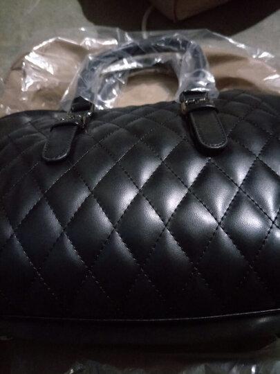 魅力元素  蝙蝠包菱格包女包手提包单肩包 欧美女士包包潮斜跨挎时尚大包笑脸 黑色 晒单图