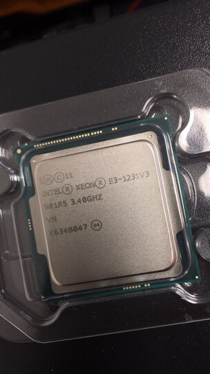 英特尔(Intel)至强四核 E3-1231 v3 1150接口 盒装CPU处理器 晒单图