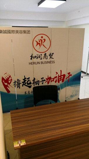 公司屏风隔断中式欧式办公室酒店餐厅企业卧室客厅酒吧咖啡厅美容院移动布艺折屏定制logo 一扇2.2米高*0.4米宽防水夹板材质 晒单图