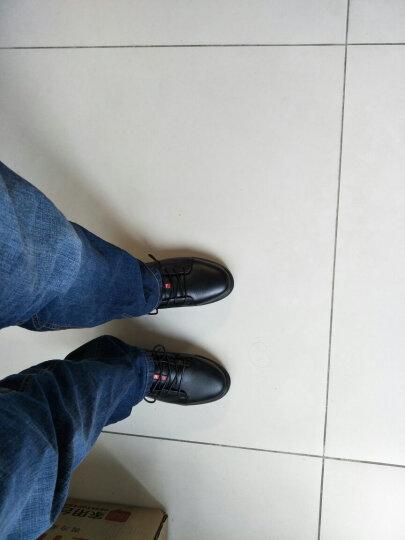 HCHAOMADI男鞋英伦时尚休闲鞋系带高帮棉鞋时尚男靴头层皮男士休闲皮鞋8088 黑色高帮单鞋 40 晒单图