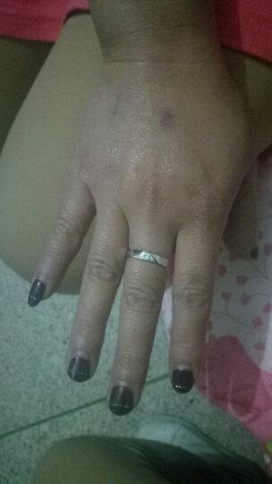 银博汇 925银对戒情侣戒指环一对价韩版婚戒银饰男女对戒子免费刻字 心心相印款 (调节版适合任何手指戴) 晒单图