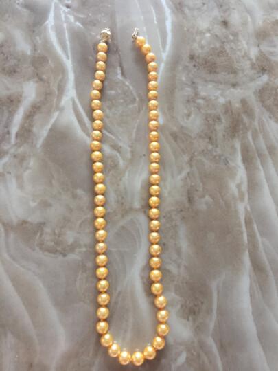 珍珠美人 金色海水珍珠项链 日本Akoya珍珠 正圆强光 送妈妈礼物【金色年华】 7-7.5mm46cm 晒单图