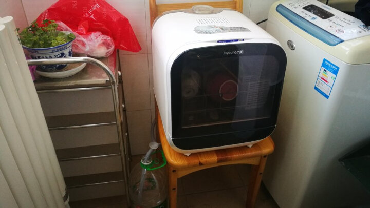 九阳(Joyoung)X6台式洗碗机 家用免安装免进水 果蔬洗 全自动迷你小型智能除菌烘干消毒 X6台式免安装4套(果蔬洗) 晒单图