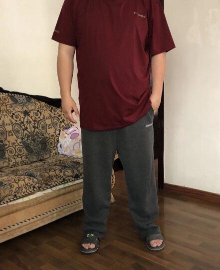 大玛加肥加大男短袖t恤大码男装特大号胖子t恤宽松肥佬夏季半袖体恤 暗红色 4XL(210斤到230斤)透气舒适单丝棉 晒单图