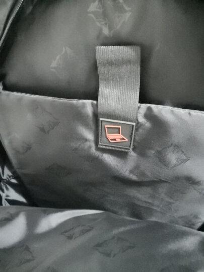 七匹狼 双肩包男电脑包15.6英寸户外休闲中学生书包 黑色B2401362-101 晒单图