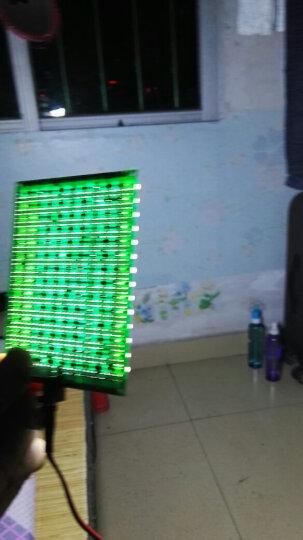 发光二极管插脚小功率LED灯珠水晶灯光源散光5mm草帽灯珠(100个) 透明胶体 短脚大杯白光 晒单图