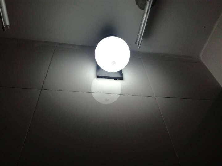 防水LED壁灯室外户外球形阳台洗手间外墙过道楼梯灯卧室床头灯具 C款奶白灯罩不带灯泡 晒单图