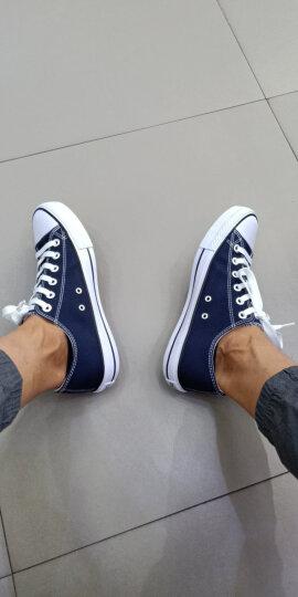 人本帆布鞋女平底运动板鞋经典情侣原宿小白鞋 学生韩版校园布鞋 米白棕 女37 晒单图
