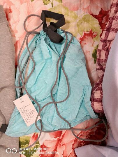INTERIGHT 男女简洁时尚休闲超轻折叠拉绳双肩包 MW01 蓝色  40*5*46CM 晒单图