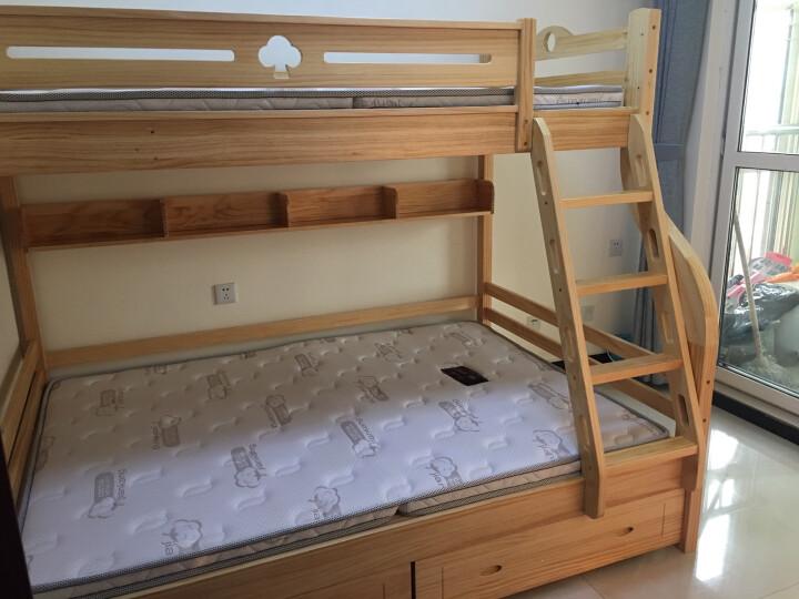 童梦 全实木爬梯高低床 实木儿童床爬梯款全实木子母床上下床 原木色(配书架和床体双抽) 上1米下1.35米 晒单图