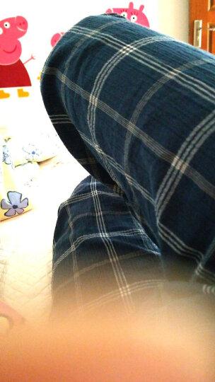 BXMAN纯棉睡裤男家居裤宽松居家长裤夏季男睡裤轻薄干爽绉布空调裤 SL18 175/96(L) 晒单图